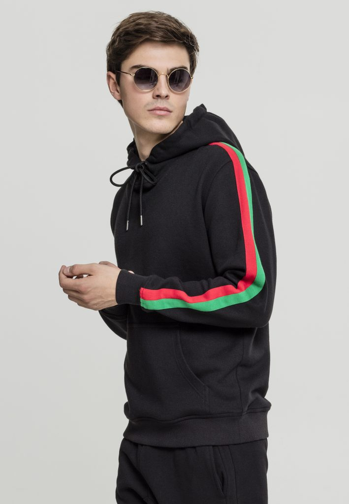 URBAN CLASSICS STRIPE SHOULDER Hoody